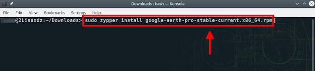 تثبيت Google Earth Pro على OpenSUSE