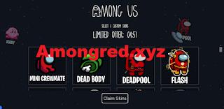 Amongred xyz Free 3 skins Among Us