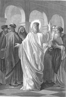 Jesus converses with the doctors of the law by Alexandre Bida
