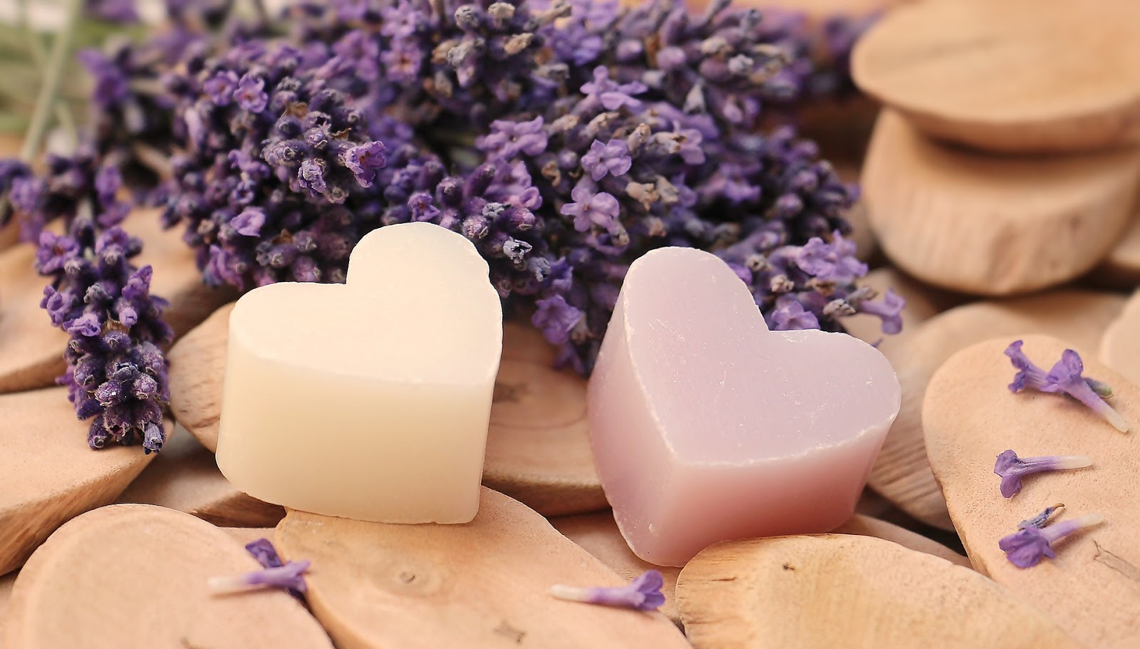 Lavender Heart Wood Soap Heart Love Romantic Images
