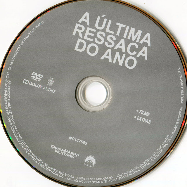 Label DVD A Última Ressaca do Ano