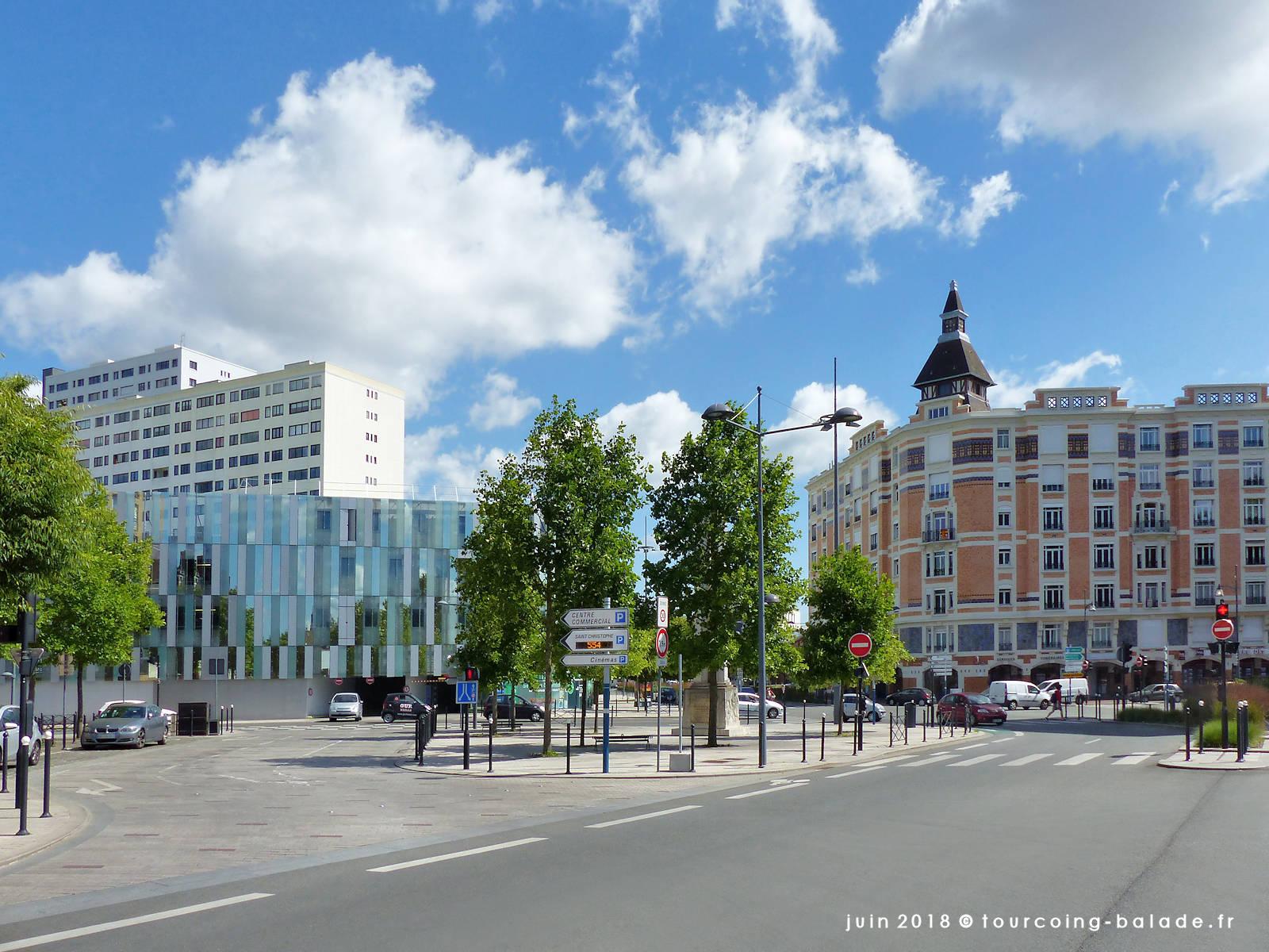 Parvis de la Laïcité, Tourcoing 2018.