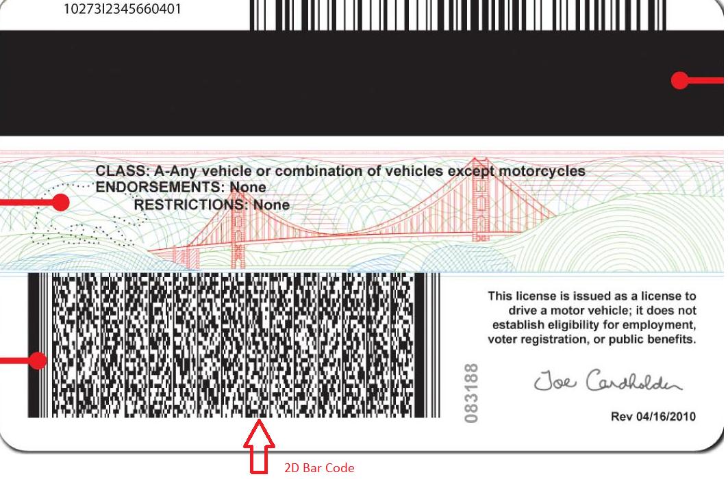 Driver S License Pdf417 Barcode - linoabrazil