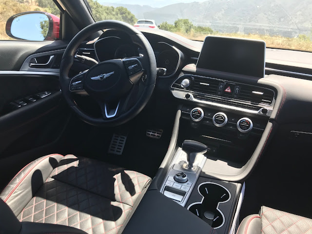 Interior view of 2019 Genesis G70
