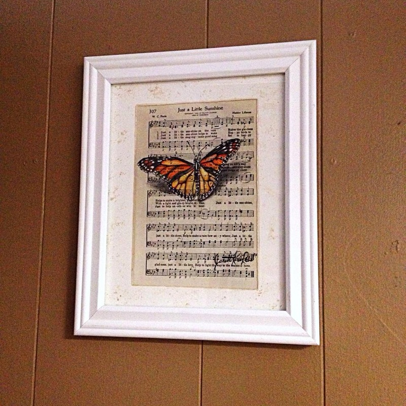 15-Janette-Rose-Painting-on-Leafs-+-Butterfly-Painting-on-Sheet-Music-www-designstack-co