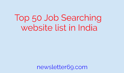Top 50 Job Searching website list in India