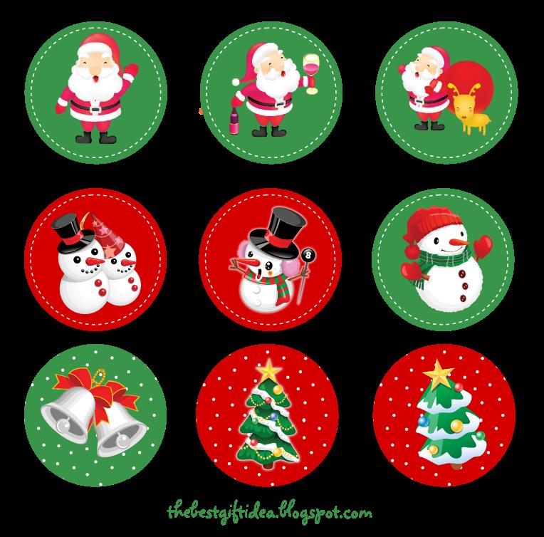 Free Printable Santa Claus Reindeer Cupcake Topper Free