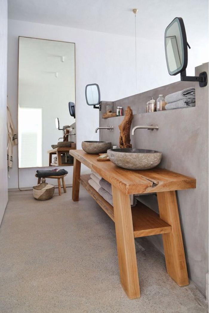 Stile naturale in bagno idee e consigli blog di for Arredamento di design naturale