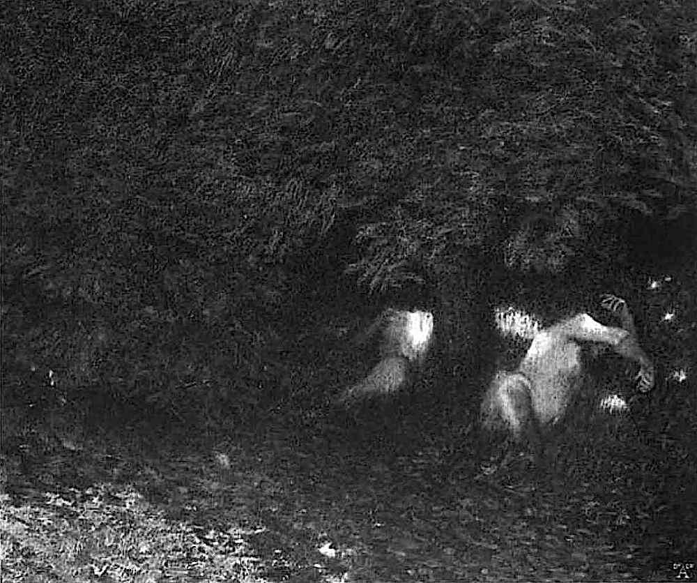 Franz Von Stuck, sleeping centaurs