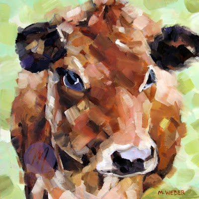 lucy-the-cow-oil-painting-by-merrill-weber