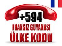 +594 Fransız Guyanası ülke telefon kodu