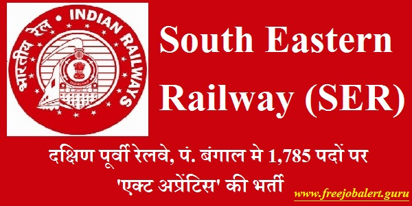 Railway Recruitment Cell, South Eastern Railway, RRC, SER, West Bengal, RRC, RRB, Railway, Railway Recruitment, 10th, ITI, Act Apprentices, Apprentice, Latest Jobs, Hot Jobs, south eastern railway logo