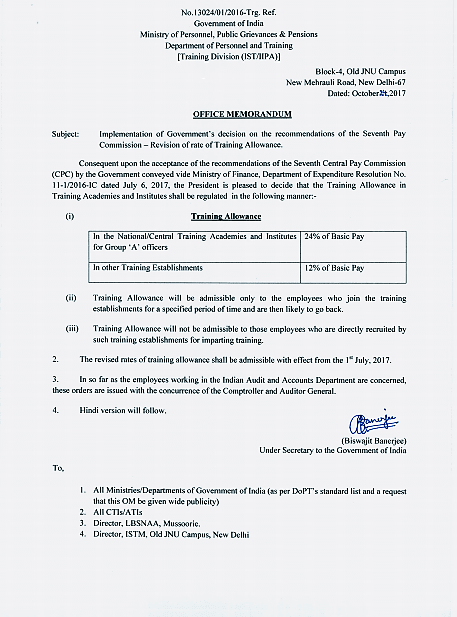 revision-of-rate-of-training-allowance-dopt-order