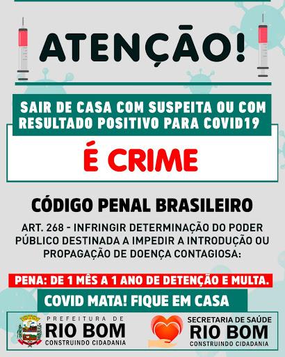 RIO BOM - Alerta da Prefeitura - Covid-19
