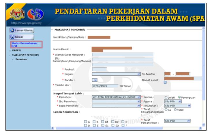Cara Isi Borang Permohonan Spa8i 2020 Online Spa