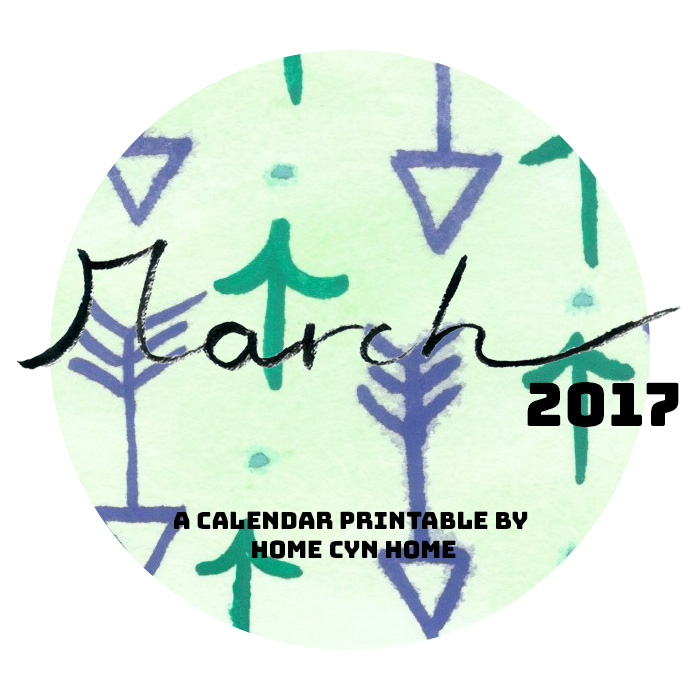 Printable calendar page for March 2017