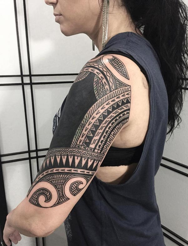 4733066d4385b The attractive and gorgeous samoan tribal tattoo design black ink ideas for  girl's beautiful arm