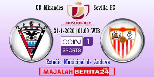 Prediksi Mirandes vs Sevilla — 31 Januari 2020