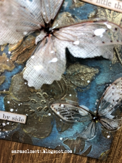Sara Emily Barker https://sarascloset1.blogspot.com/ Mixed Media ATC with Tim Holtz Stencils, Oxides and Transparent Wings 3