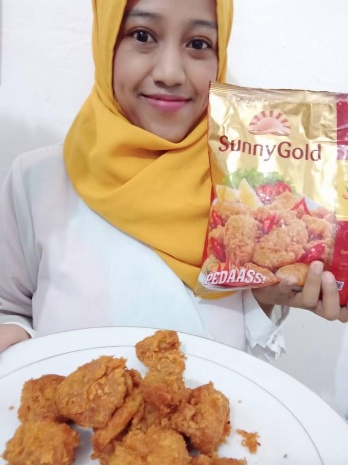 Makanan Pedas Kekinian, Sunny Gold Karage Ayam Pedas