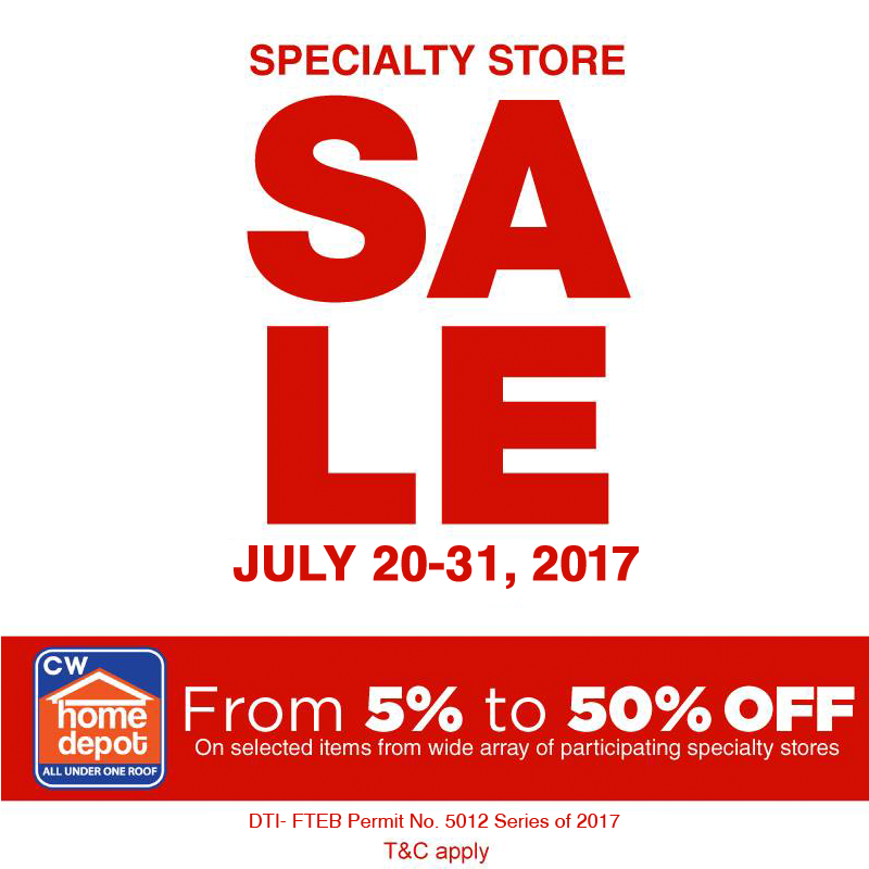 Manila Shopper Cw Home Depot Specialty Store Sale July 2017