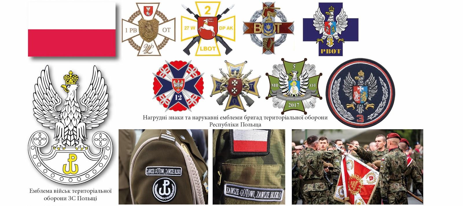 нарукавні емблеми тероборони ЗС Польща