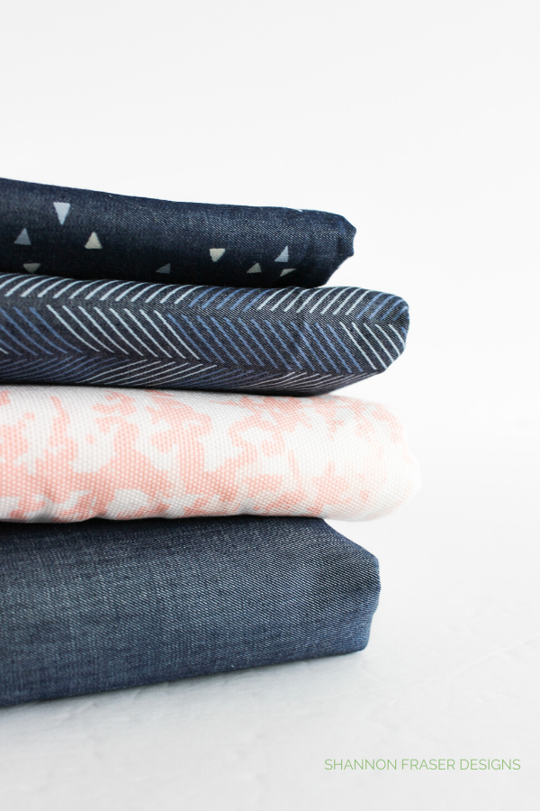 AGF Denim + Canvas | Honest state of a modern quilter's WIP List | Q1 2020 Finish-a-Long | Shannon Fraser Designs #modernquilter #worksinprogress #denim #canvas #artgalleryfabrics