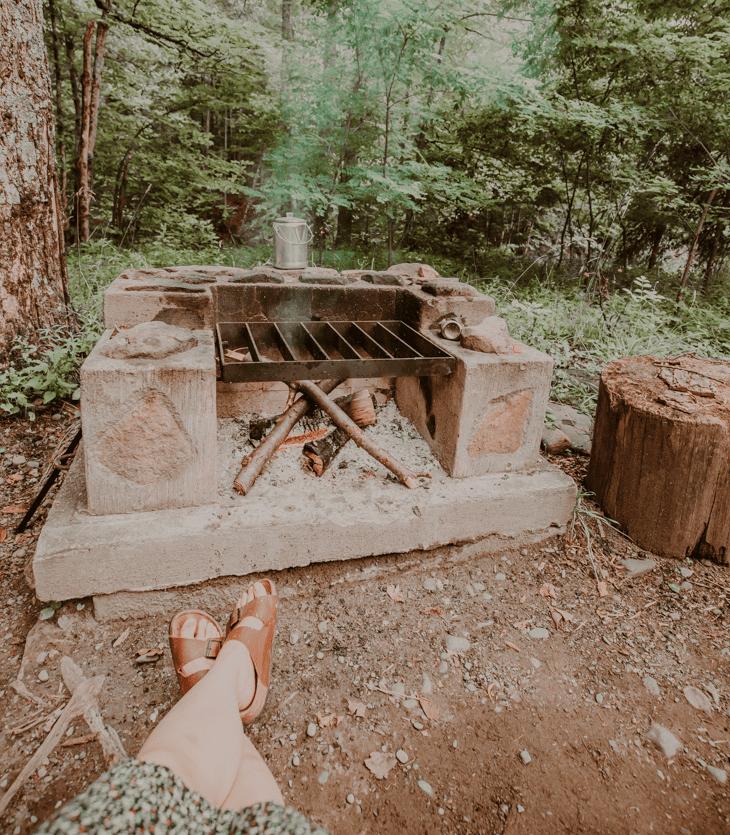 Camping at Woodland Valley Campground, Catskills NY