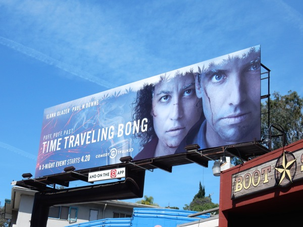 Time Traveling Bong Comedy Central billboard