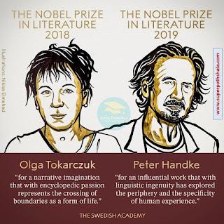 The Nobel Prize in Literature for 2018 - Olga Tokarczuk and for 2019 - Peter Handke