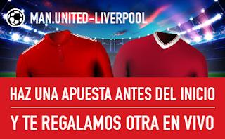 sportium promocion United vs Liverpool 10 marzo