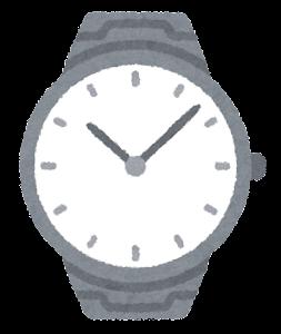 腕時計のイラスト(男性用)