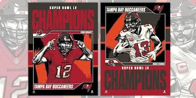 Tampa Bay Buccaneers Super Bowl LV NFL Champions Tom Brady & Mike Evans Screen Prints by Fitz x Phenom Gallery