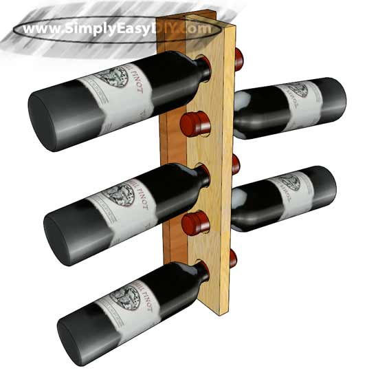 diy vertical wine rack
