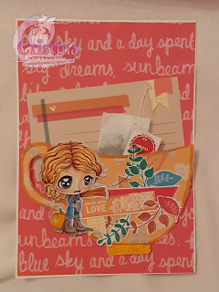 """Card with """"Autumn winds chibi"""""""
