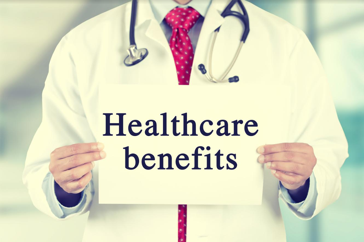 doctor with healthcare benefit