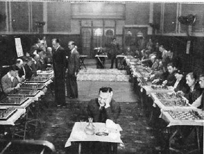 Simultáneas de ajedrez de Koltanowski en Edimburgo en 1937