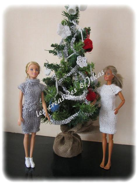 robe au tricot pour poupée barbie