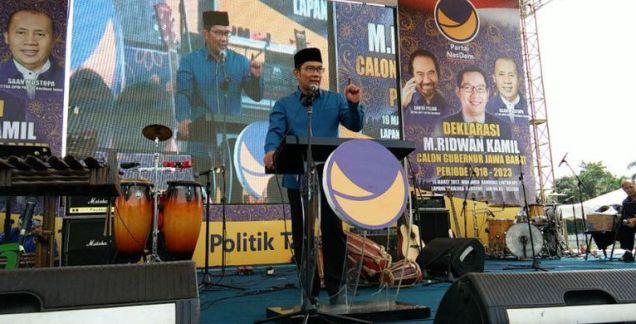 Ridwan Kamil: Kan Janji Saya Itu Bukan Janji Dua Periode...