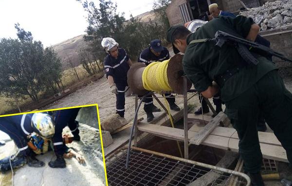 إنقاذ شخص سقط  داخل  بئر  ببقعة الصوالة  ببلدية الصبحة