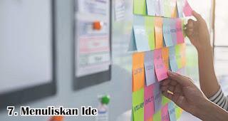 Menuliskan Ide merupakan salah satu manfaat sticky note