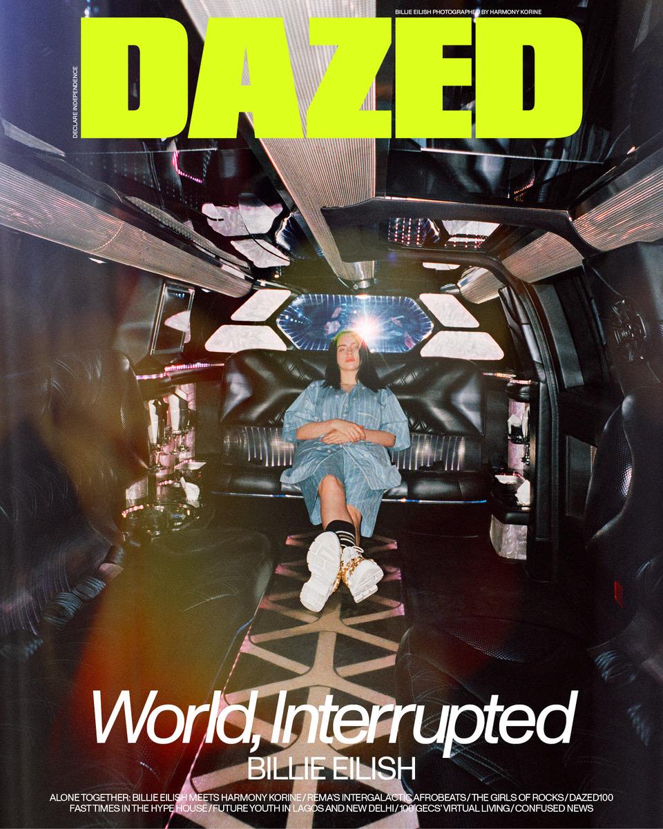 Billie Eilish covers Dazed Magazine Spring/Summer 2020 Issue