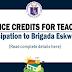 Service Credits for TEACHERS in Participation to Brigada Eskwela