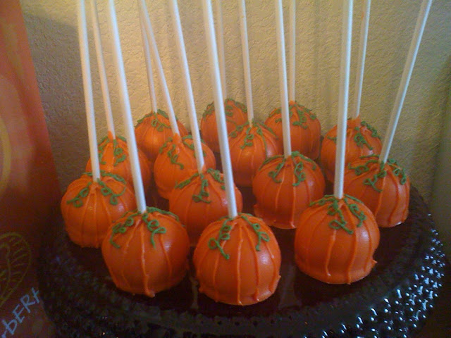 pumpkin cake pops funkytown cakes fall flavors 6849