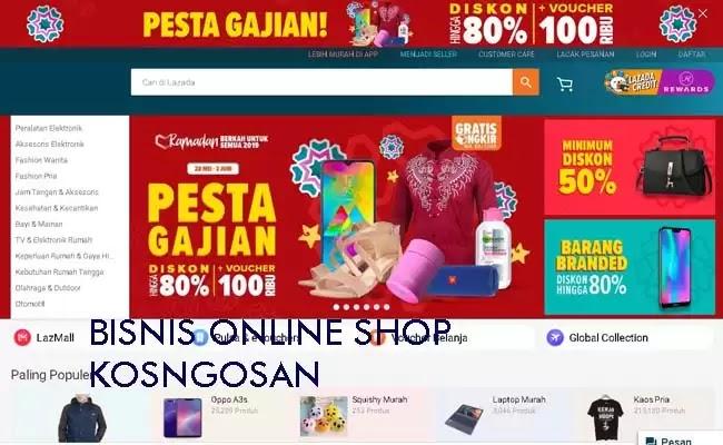 ide jualan online shop