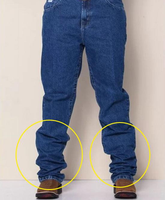 barra correta da calça