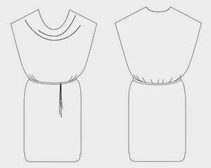 Patrón gratis blusa y vestido con escote drapeado