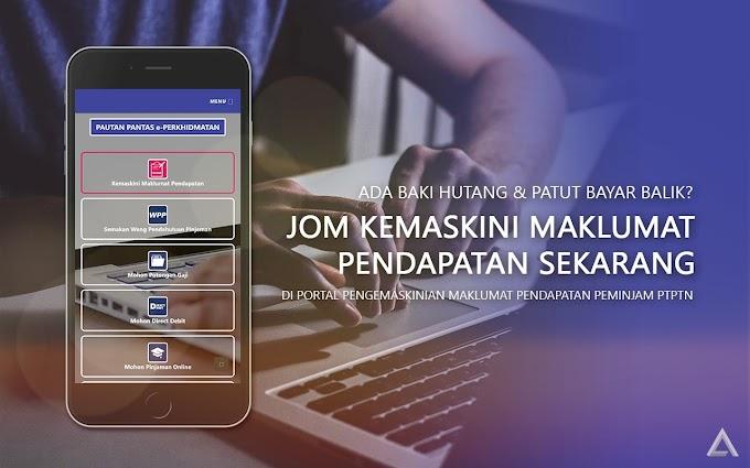 Kemaskini Maklumat Pendapatan PTPTN Secara Online