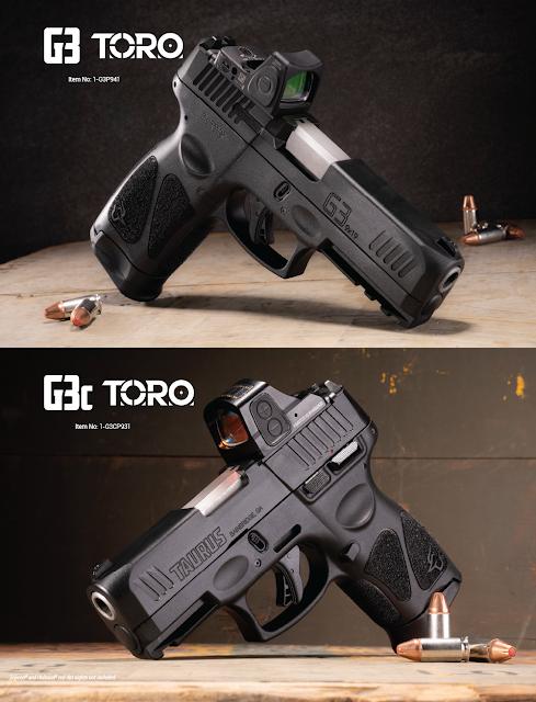 LRCA: Taurus lança as pistolas G3 e G3c TORO nos EUA, prontas para óptica