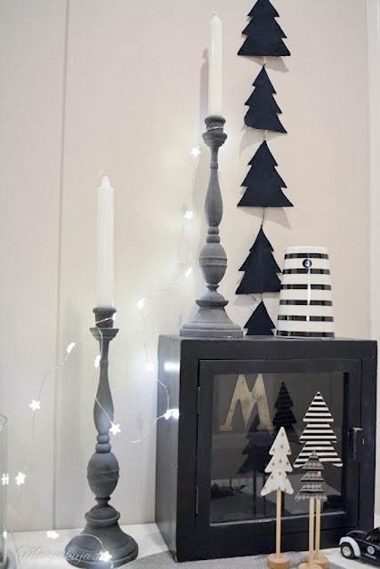 kynttilänjalka skandinaavinen joulu sisustus
